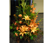 Orange glads and lilies. in Twin Falls ID, Canyon Floral