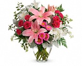 Blush Rush Bouquet in Gurnee IL, Balmes Flowers Gurnee