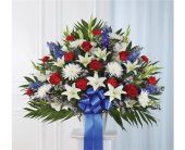 Red, White & Blue Sympathy Standing Basket in Pittsburgh PA, Eiseltown Flowers & Gifts