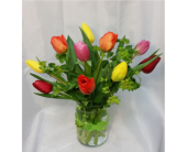 Ten Tulips- Mixed Colors in Grand Rapids MN, Shaw Florists