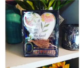 Mom Art Heart in Templeton CA, Adelaide Floral