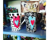 Heart Mug in Templeton CA, Adelaide Floral