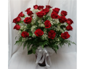 Two Dozen Red Roses Vased in Grand Rapids MN, Shaw Florists