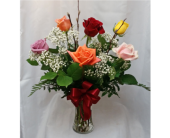 Half Dozen Roses- Mixed Colors in Grand Rapids MN, Shaw Florists