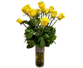 One Dozen Yellow Roses in Fort Worth TX, Greenwood Florist & Gifts