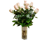 One Dozen Pink Roses in Fort Worth TX, Greenwood Florist & Gifts