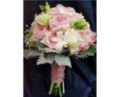 Pink and White Bridal Bouquet in San Diego, California, The Floral Gallery