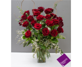Royal Roses - 2 Dozen Red in Houston TX, Breen's Clear Lake Flowers