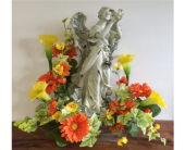 Garden Angel with Silk Flowers in Piqua OH, Genell's Flowers