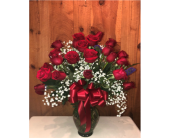 Two Dozen Long Stemmed Red Roses  in Methuen MA, Martins Flowers & Gifts