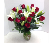 Red Roses and Lilies in Purcell OK, Alma's Flowers, LLC