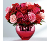 HOLD ME IN YOUR HEART� RED - PINK ROS ROSE BOUQUET in Port Moody BC, Maple Florist