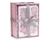 BABY GIRL PINK/GRAY DOTS GIFT SET in Smyrna GA, Floral Creations Florist