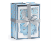 BABY BOY BLUE/GRAY DOTS GIFT SET in Smyrna GA, Floral Creations Florist