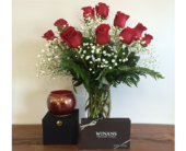 Lots of Love: Roses, Chocolates and Candle in Piqua OH, Genell's Flowers