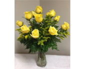 One Dozen Yellow Roses in Laurel MD, Rainbow Florist & Delectables, Inc.