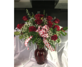 2 Dozen Red Roses in Lowell MA, Wood Bros Florist