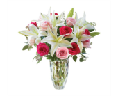 Marquis By Waterford� Rose And Lily Bouquet in Pittsburgh PA, Eiseltown Flowers & Gifts