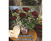 Half Dozen Red Roses in Waynesburg PA, The Perfect Arrangement Inc