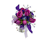 Royal Purple Wrist Corsage in Methuen MA, Martins Flowers & Gifts