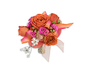 Sherbet Wrist Corsage in Bradenton FL, Florist of Lakewood Ranch