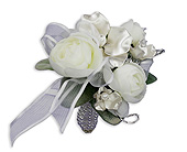 Satin Pearl Wrist Corsage in Bradenton FL, Florist of Lakewood Ranch