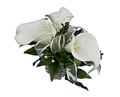 Lily Pearl Wrist Corsage in South Surrey BC, EH Florist Inc