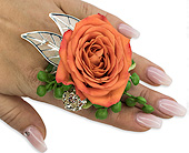 Tangerine Floral Ring in Bradenton FL, Florist of Lakewood Ranch
