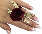 Ruby Metallic Floral Ring in Bradenton FL, Florist of Lakewood Ranch