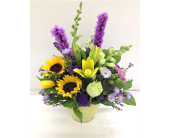 Potted Purples Bouquet in Smyrna GA, Floral Creations Florist