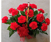 Classic Red Carnations in Skowhegan, Maine, Boynton's Greenhouses, Inc.