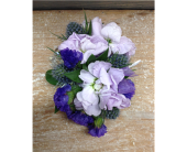 Shades of Purple Corsage in Smyrna GA, Floral Creations Florist