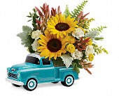 Teleflora's Chevy Pickup Bouquet in San Jose CA, Rosies & Posies Downtown