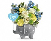 Teleflora's Hello Sweet Baby - Blue in Longview TX, Casa Flora Flower Shop