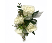 White on White Corsage in Clearwater, Florida, Hassell Florist