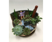 2 Level Fairy Garden in Belleville ON, Live, Love and Laugh Flowers, Antiques and Gifts