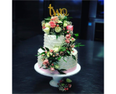 Fresh Floral Cake Piece in New Haven CT, The Blossom Shop
