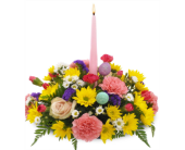 Single Candle Easter Centerpiece in Savannah GA, John Wolf Florist
