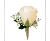 White Rose Boutonniere in Hurst, Texas, Cooper's Florist