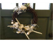 Shades of White Wreath in Mount Kisco NY, Hollywood Flower Shop