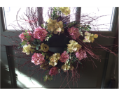 Rose and Hydrangea Wreath in Mount Kisco NY, Hollywood Flower Shop