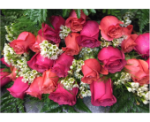 Wrapped Mixed Color Roses in Mount Kisco NY, Hollywood Flower Shop
