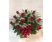 Red Rose Funeral Basket in Philadelphia PA, Schmidt's Florist & Greenhouses