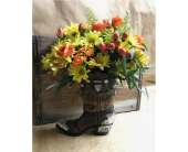 Cowboy boot dreams in Edmonds WA, Dusty's Floral