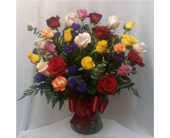 Two Dozen Roses Vased- Mix in Grand Rapids MN, Shaw Florists