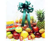 Fruit, Cheese & Cracker Gift Basket