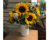 Sunflower Hobnail in Mount Kisco NY, Hollywood Flower Shop