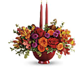Teleflora's Brightest Bounty Centerpiece in San Jose CA, Rosies & Posies Downtown
