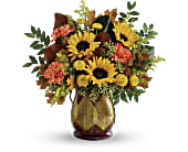 Teleflora's Changing Leaves Bouquet in San Jose CA, Rosies & Posies Downtown