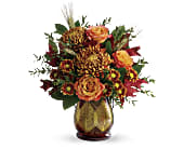 Teleflora's Fields Of Amber Bouquet in San Jose CA, Rosies & Posies Downtown